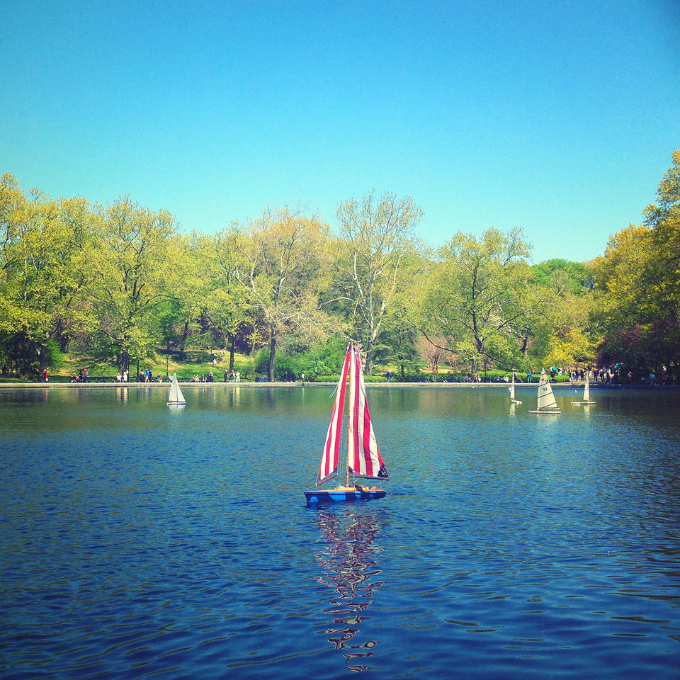Travel photographer John Barnett edit this photo of Central Park in New York with the Wood Camera iPhone application he created. PHOTO PROVIDED.  <strong></strong>