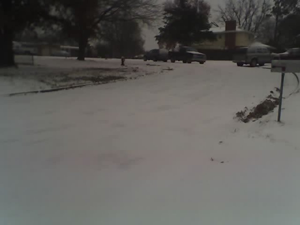 Ice/sleet on my street .. looks more like snow.<br/><b>Community Photo By:</b> Jan Greenfield<br/><b>Submitted By:</b> Jan, Chandler