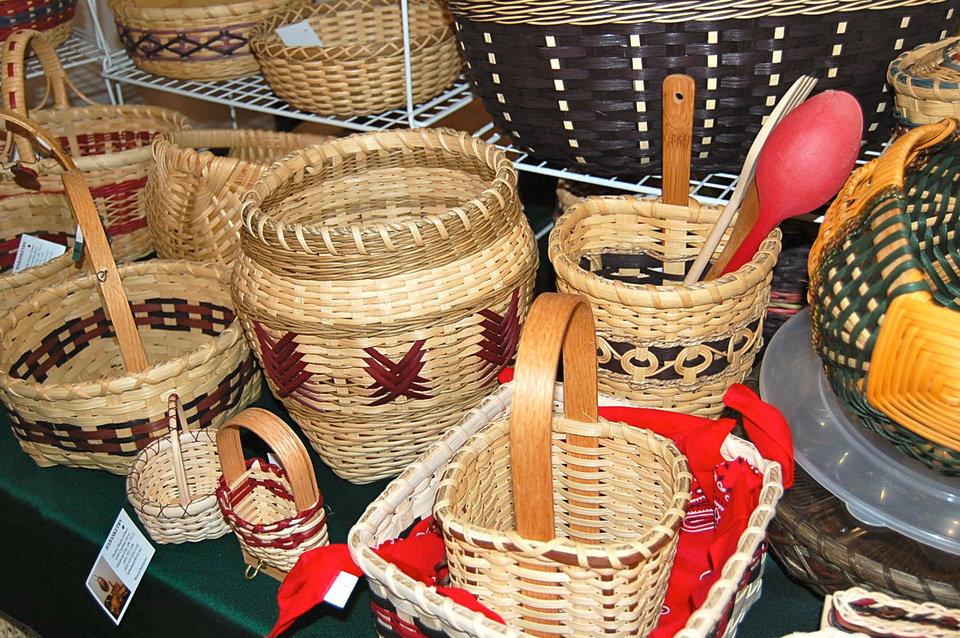 Baskets by Pauline Asbury.