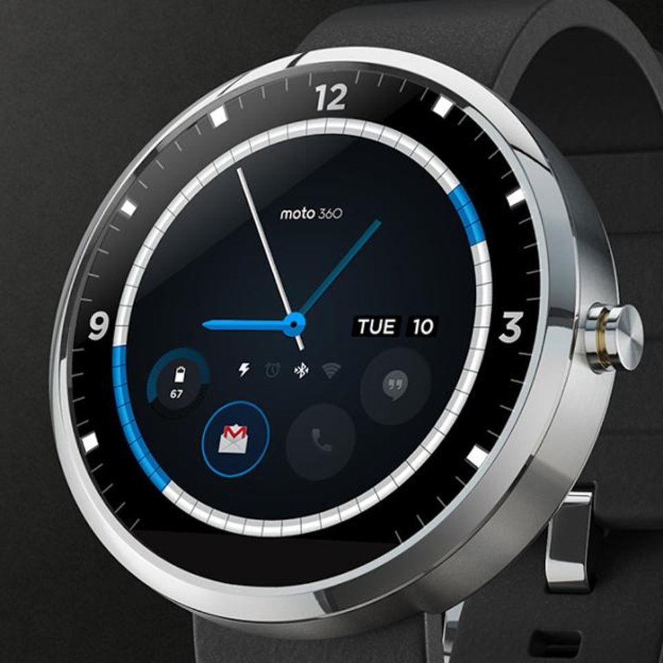 Photo -  The Moto 360 smartwatch is shown. Photo provided