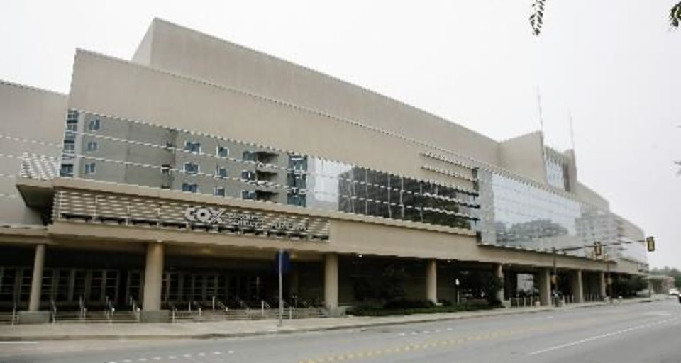 The  Cox  Convention  Center in downtown Oklahoma City, Thursday, Sept. 27, 2007. BY PAUL B. SOUTHERLAND