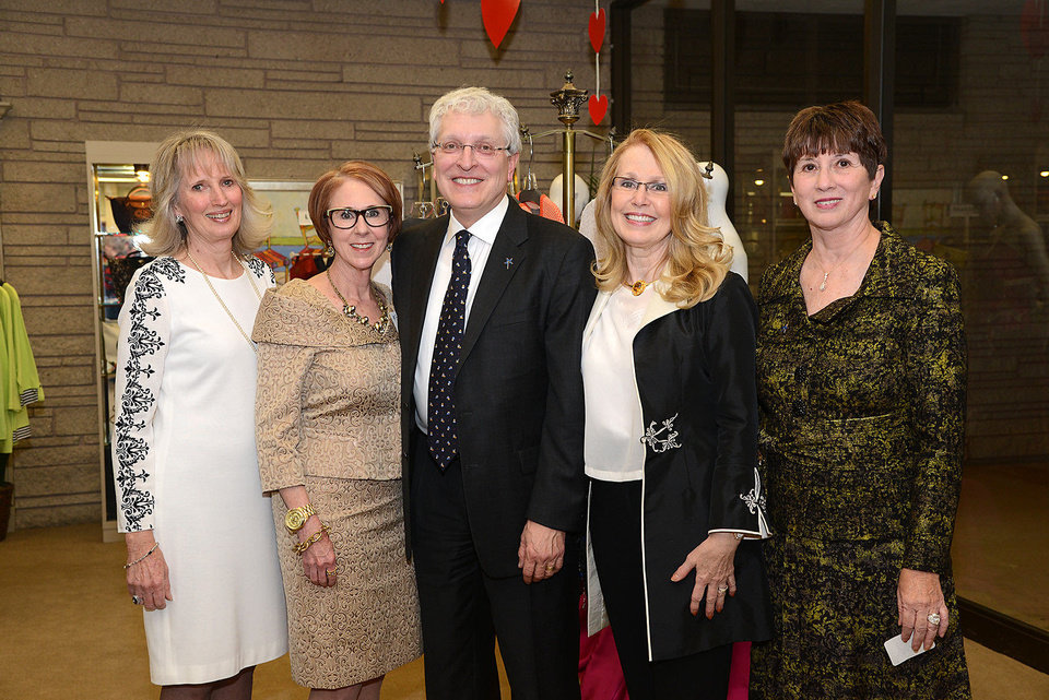 Photo - Anne Gray, Annie Bohanon, Robert Henry, Jan Henry, Cathy Leichter. Photo by David Faytinger, for The Oklahoman