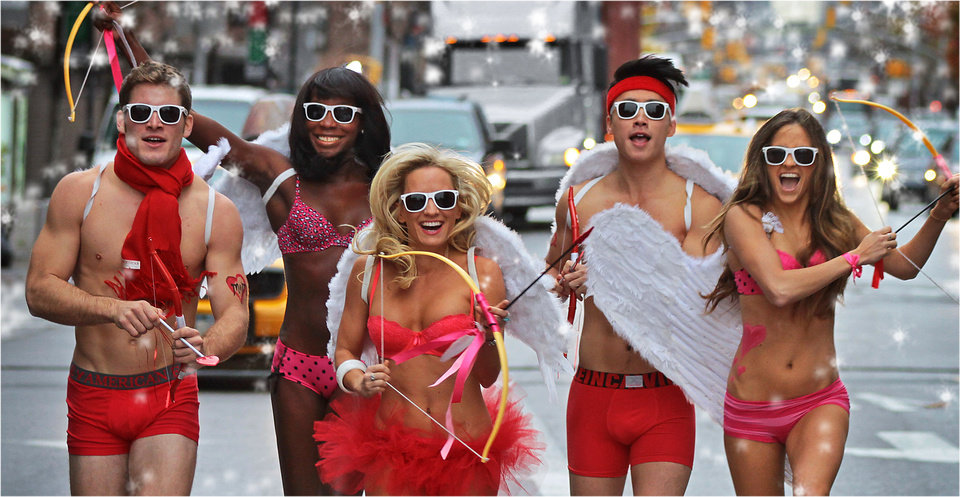 Photo - Cupid's Undie Run NF fundraiser in New York, 2012.  Photo provided