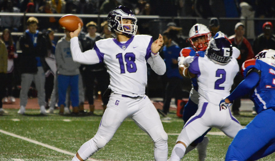 Photo -  Rivals.com rates OU target Caleb Williams of Washington, D.C.'s Gonzaga College High School as the nation's No. 1 quarterback in the 2021 recruiting class. [Gonzaga TD Club photo via USA Today Sports]