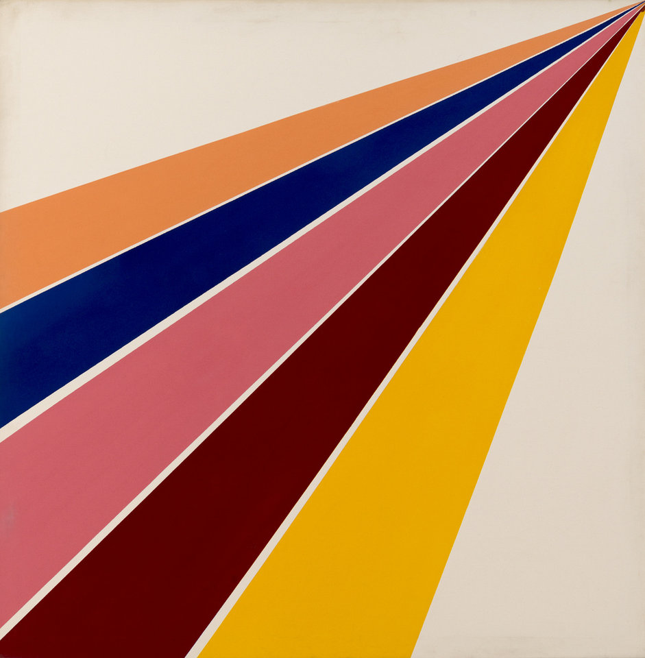 Photo -  Sam Gilliam's (American, b. 1933) 1965 acrylic on canvas painting