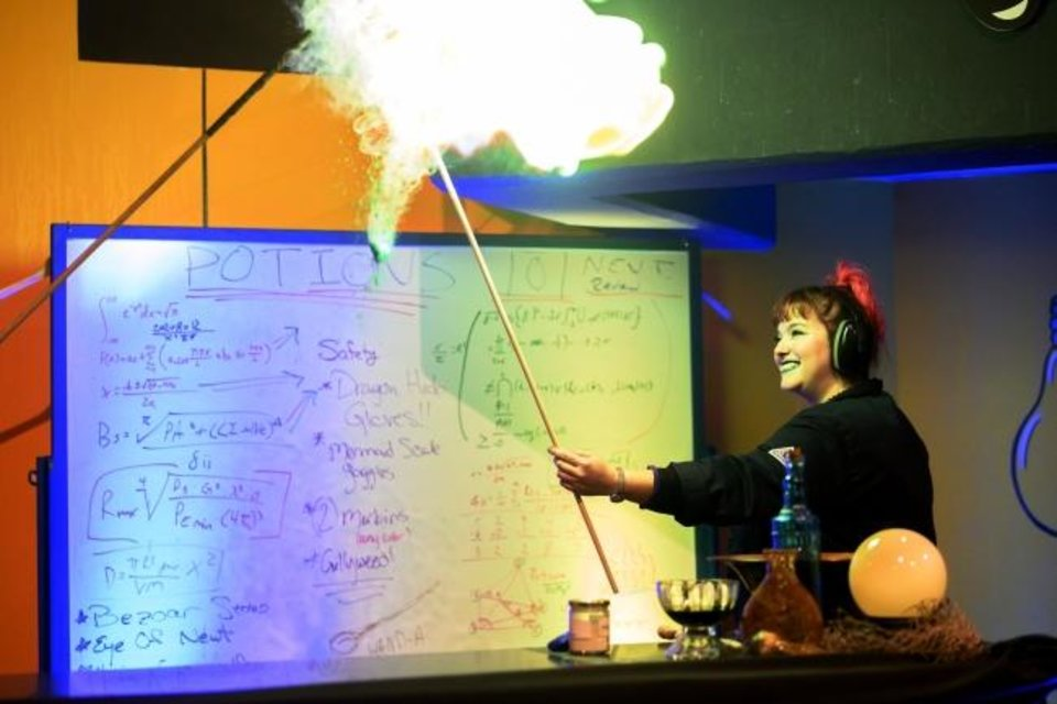Photo -  A Science Museum Oklahoma Science Live performer does a demonstration during a past SMO 21 event. [PHOTO PROVIDED]
