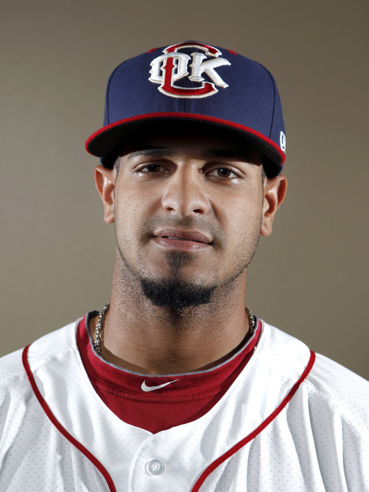 MINOR LEAGUE BASEBALL: Oklahoma City\'s Fernando Martinez poses for a photograph during media day for the Oklahoma City RedHawks in Oklahoma City, Tuesday, April 3, 2012. Photo by Sarah Phipps, The Oklahoman
