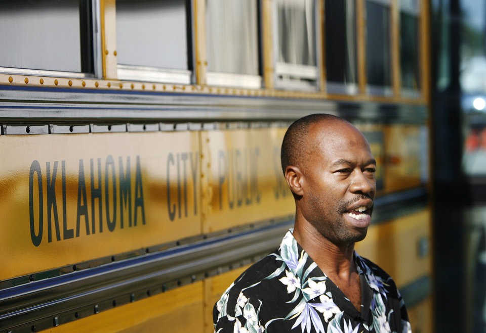 Freddie Hudspeth  is a bus driver trainee with the Oklahoma City Public Schools. He was photographed at the district's transportation center in northeast Oklahoma City, Thursday,  Aug. 7, 2008.   BY JIM BECKEL, THE OKLAHOMAN