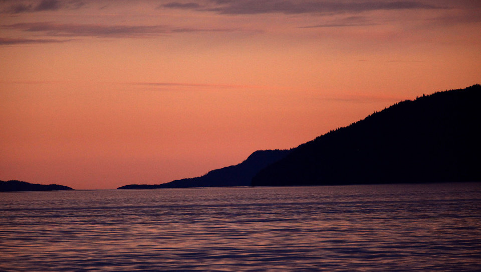 Photo - The sunsets in Southeast Alaska, Thursday, June 7, 2012.  Photo by Sarah Phipps, The Oklahoman