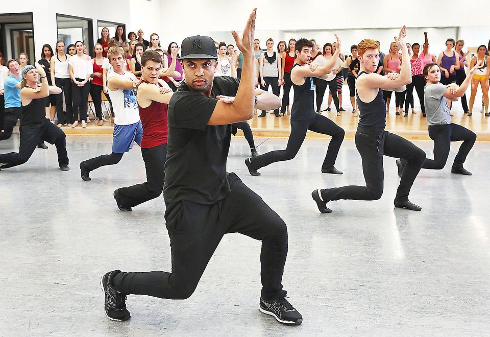 Leading choreographers and OCU alumni, brothers Marcel, shown here, and Kevin Wilson returned Friday to Oklahoma City University to teach a dance class.  Photo by Jim Beckel,  The Oklahoman