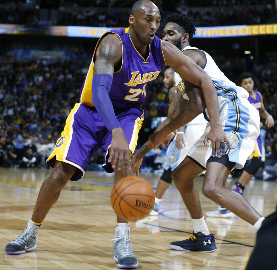 Bryant Scores 31 As Lakers Beat Nuggets 111-107
