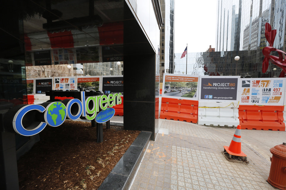 Coolgreens will be closing for a year due to Project 180 construction at it's downtown location in Oklahoma City. Photos By Steve Gooch, The Oklahoman  <strong>Steve Gooch - The Oklahoman</strong>