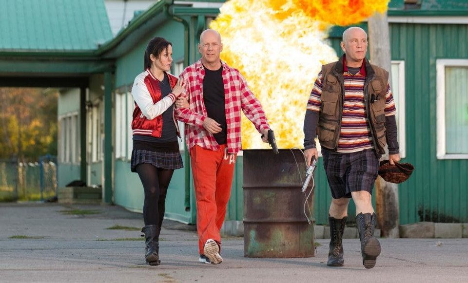 "Mary-Louise Parker, Bruce Willis and John Malkovich star in ""Red 2."" Summit Entertainment photo <strong>Jan Thijs</strong>"