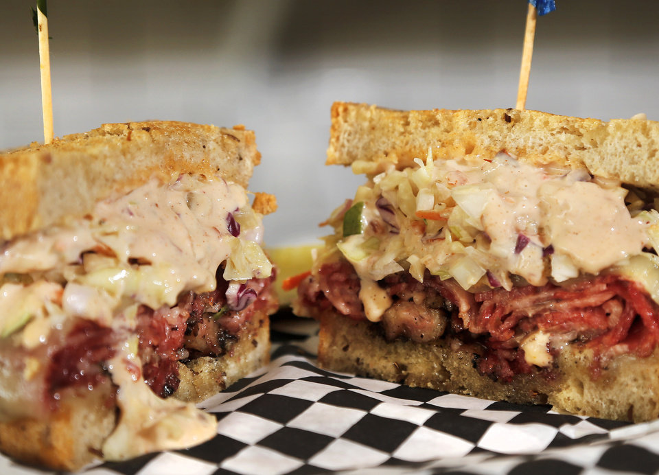Photo -  Food from Scottie's Deli in Oklahoma City's Uptown 23rd district. [Photo by Jim Beckel, The Oklahoman]