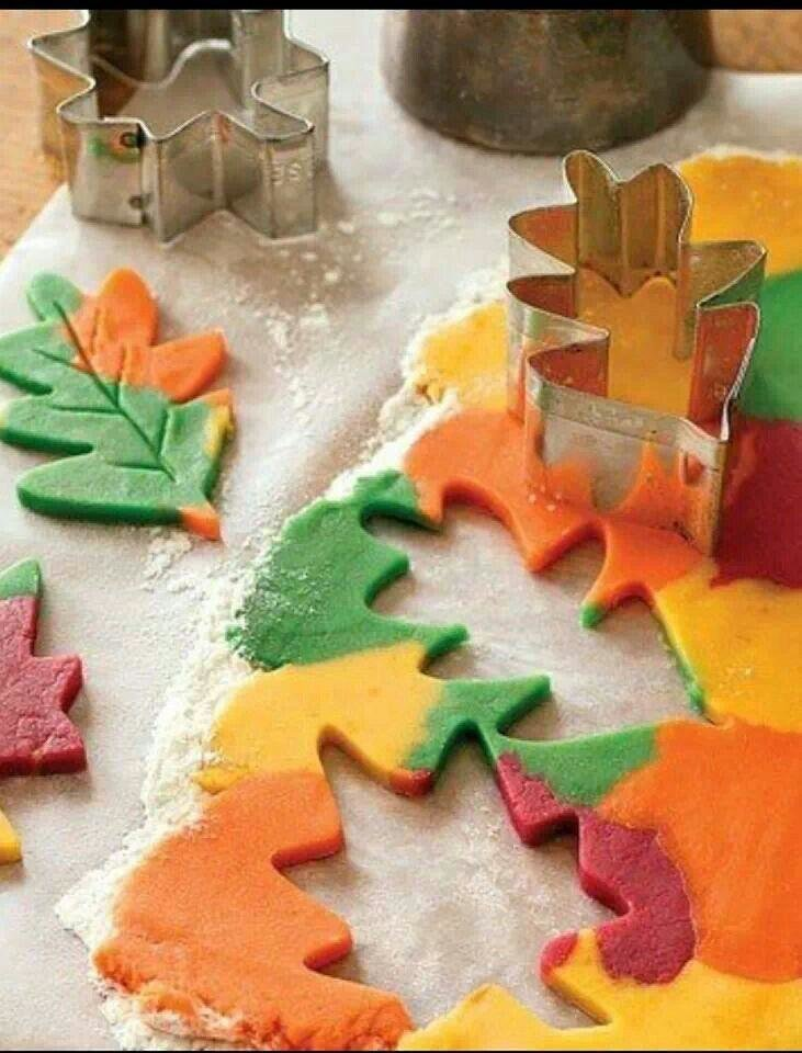 Photo - Cindy Wysocki pinned this photo of fall color cookies.