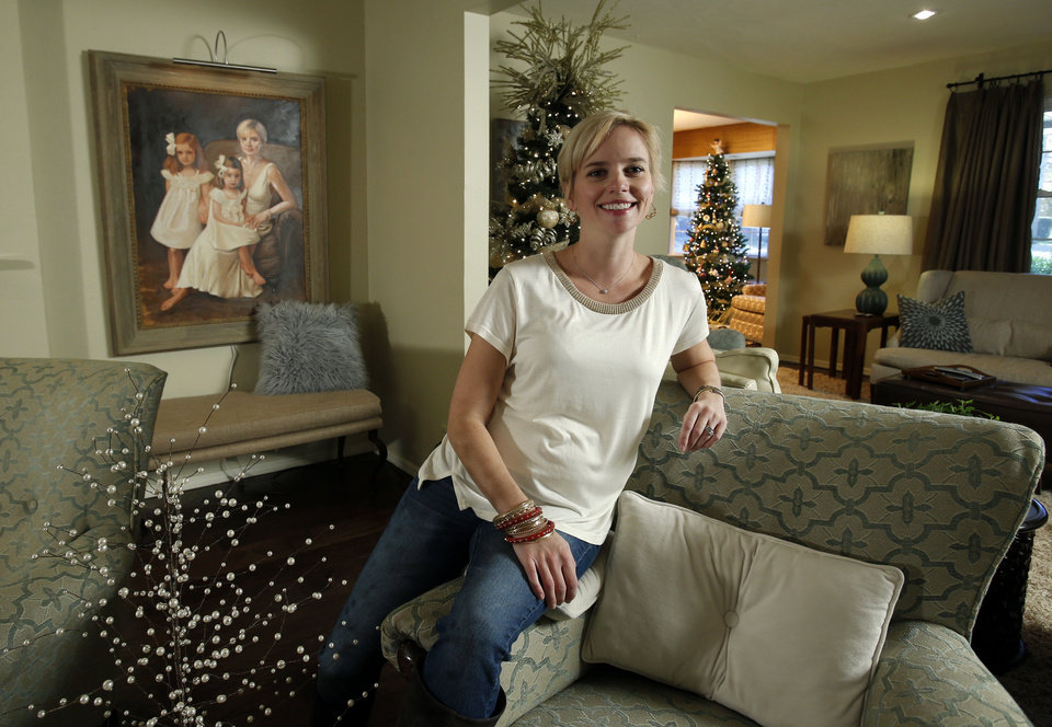 Elizabeth Greenhaw sits in the living room of her home at 1901 Pin Oak Circle. PHOTOS BY STEVE SISNEY, THE OKLAHOMAN