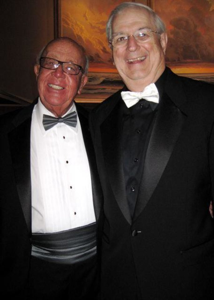 FIRST LADIES GALA....Bill Wallace and Dr. Joseph Ferretti at the Gala. (Photo by Helen Ford Wallace).