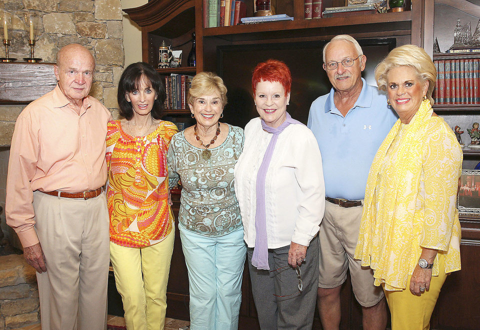 Ret. Gen. Jay Edwards, Linda Tarpley, Carol Sander, Linda Piro, Gary Sander, Patsy Homsey.  PHOTOS BY DAVID FAYTINGER, FOR THE OKLAHOMAN