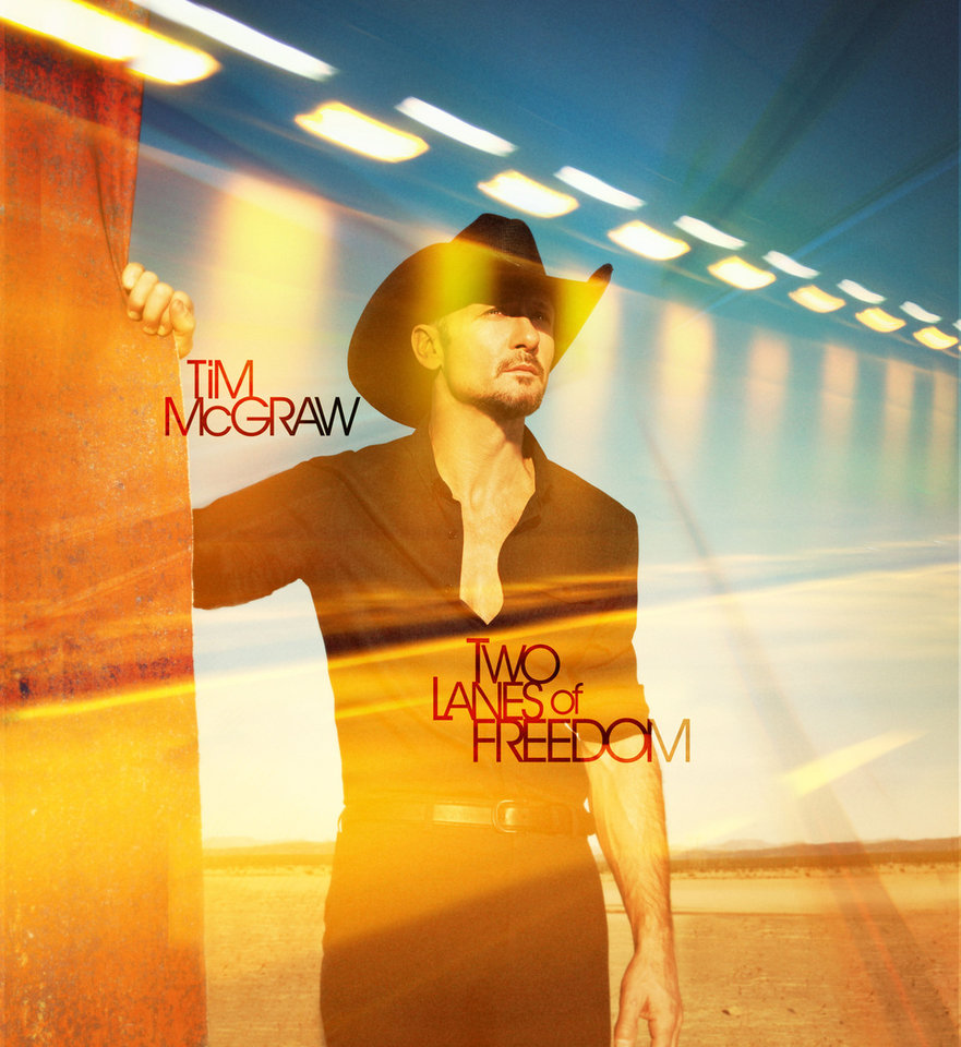"This CD cover image shows ""Two Lanes of Freedom,"" from Tim McGraw. <strong></strong>"