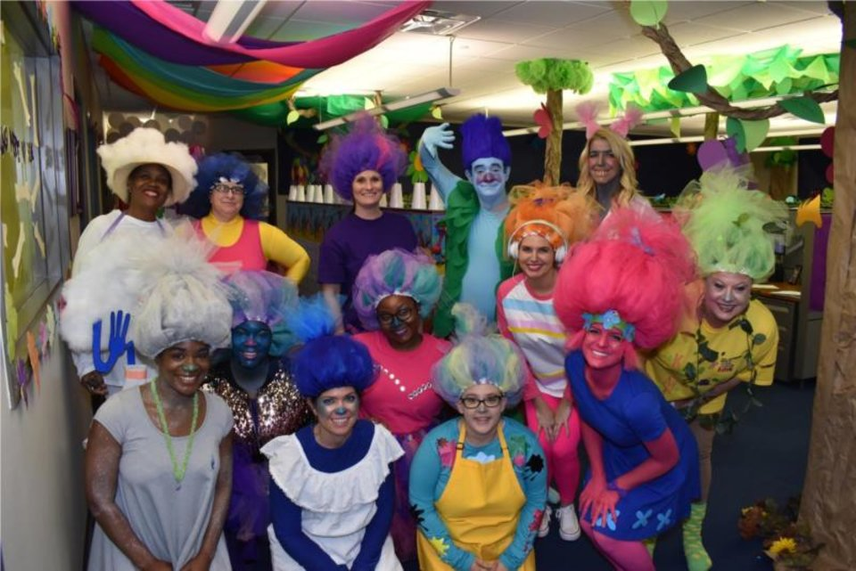 Photo -  Express Professionals' risk group goes all out for Halloween. [Photo provided]