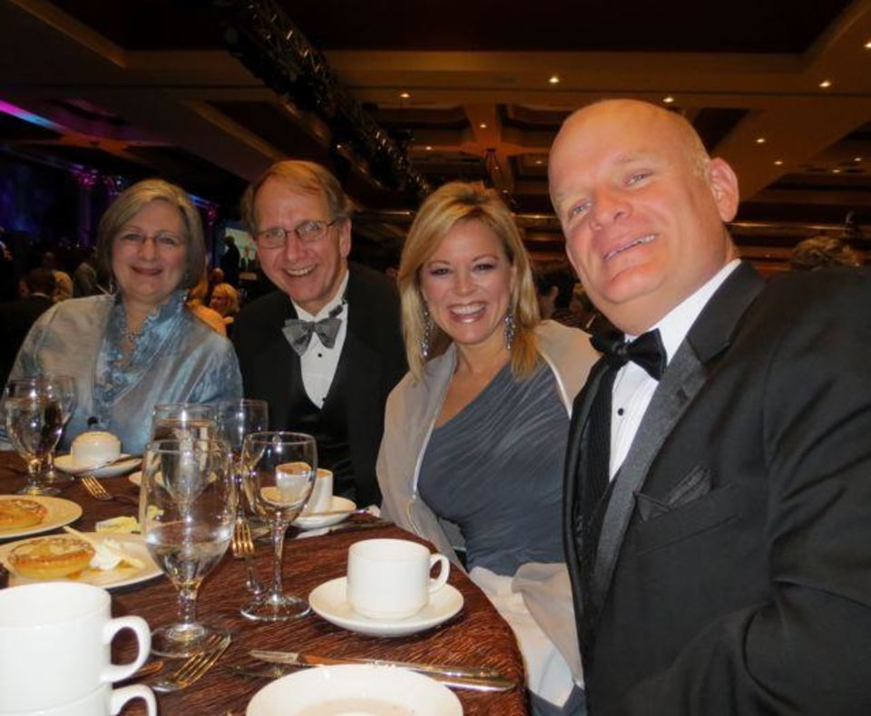 Donna and Don Millican and Shannon and Mitch Wilburn were at the event in Tulsa. (Photo by Helen Ford Wallace).
