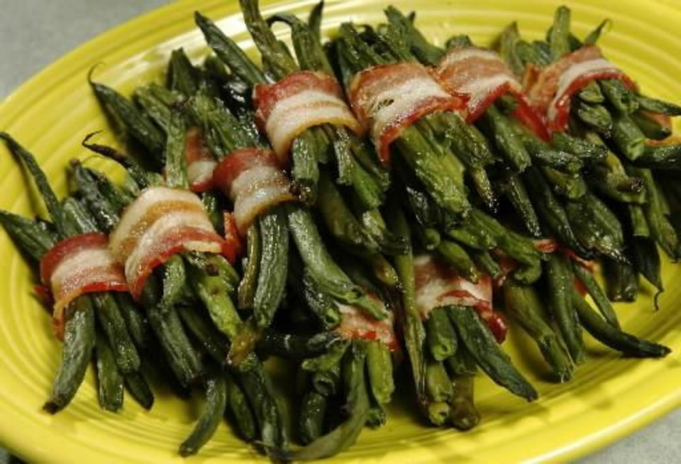 Photo - Green bean and bacon bundles. Photo by Jim Beckel.