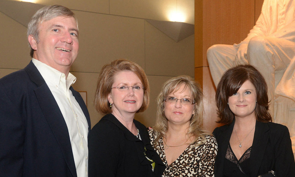 Photo - Brooks and Caroline Mitchell, Sheri Dupler, Lorie Lareau. Photo by David Faytinger, for The Oklahoman