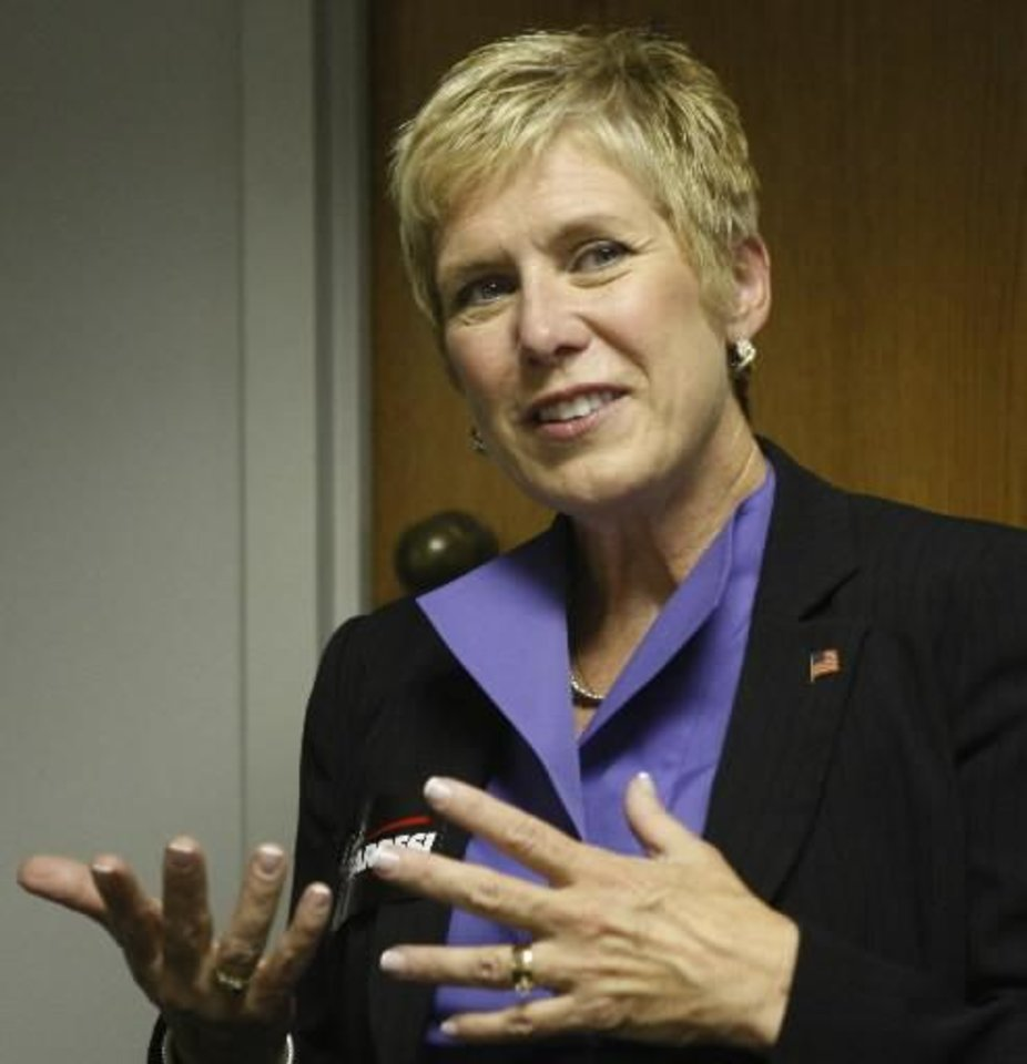 Photo - In this Friday, Oct. 8, 2010 photo, Janet Barresi is pictured during an interview with the Associated Press, in Oklahoma City. Barresi starts Monday as the state superintendent of schools. AP Photo.