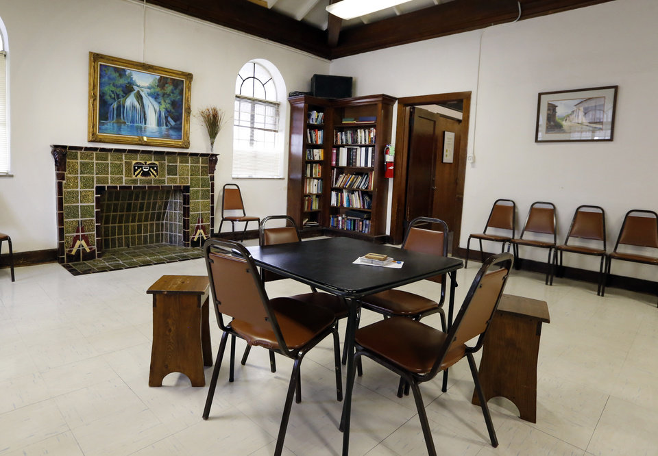 Photo -  A converted library offers a meeting room for seniors at the Senior Citizens Center at 329 S Peters. Seniors say they have outgrown the center and want a new one. [PHOTO BY STEVE SISNEY, THE OKLAHOMAN]