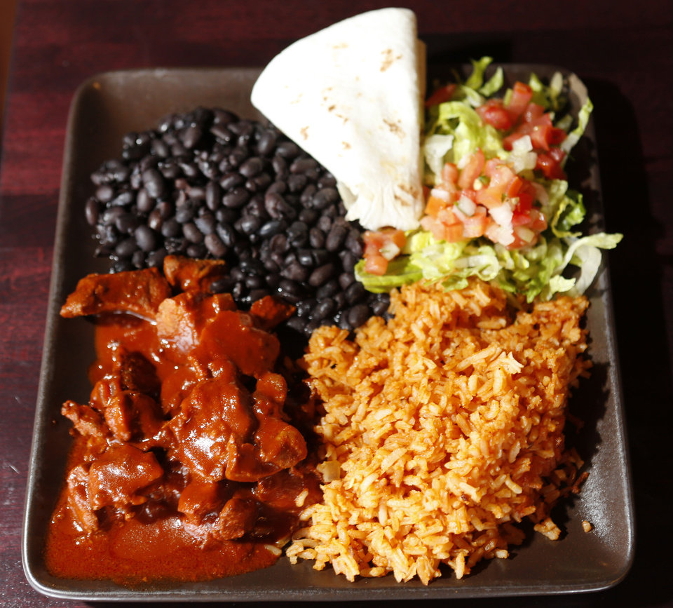 Carne adovada dinner at the Green Chili Kitchen in Yukon, Friday  January  11, 2013. Photo By Steve Gooch, The Oklahoman