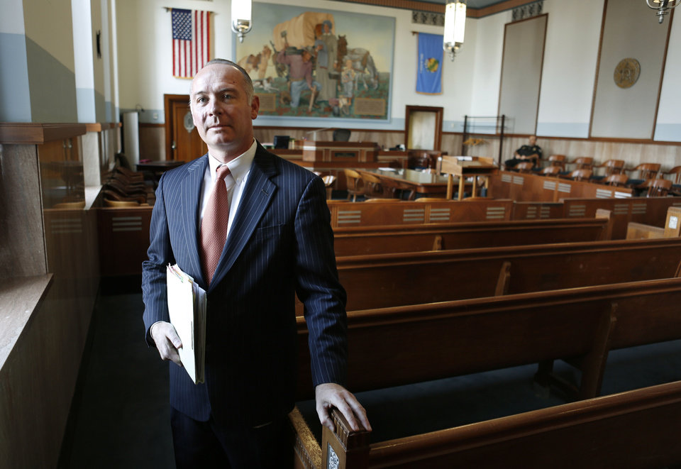 Defense attorney David Slane at the Oklahoma County Courthouse in Oklahoma City, Wednesday,  October 3, 2012. Photo By Steve Gooch, The Oklahoman <strong>Steve Gooch - The Oklahoman</strong>