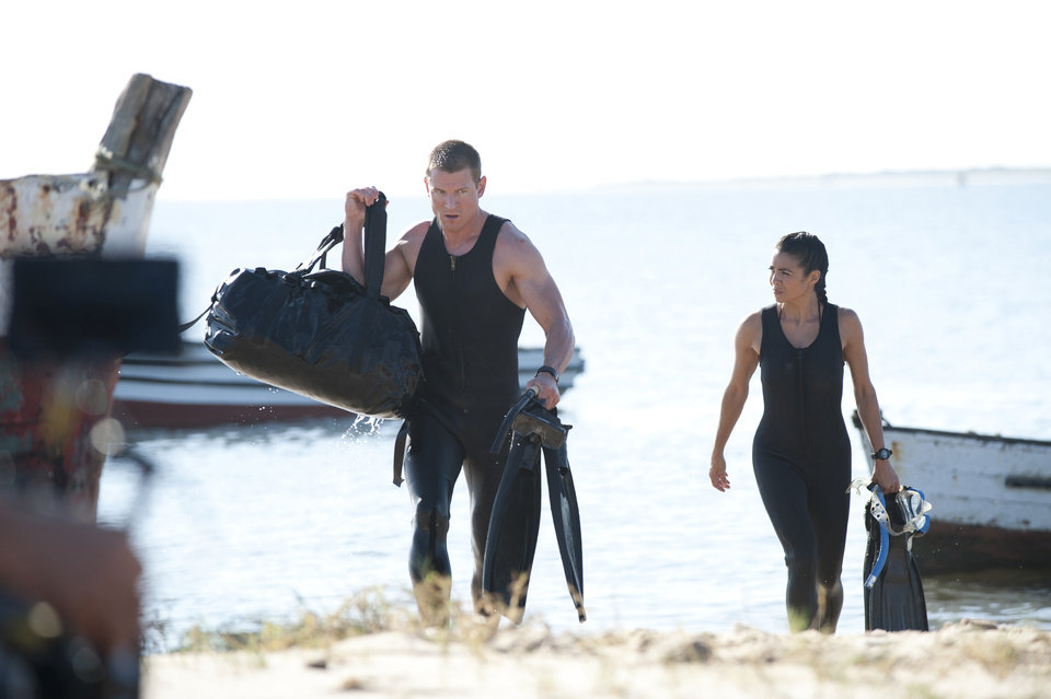 """Photo -  Philip Winchester and Michelle Lukes in """"Strike Back"""" - Cinemax Photo"""