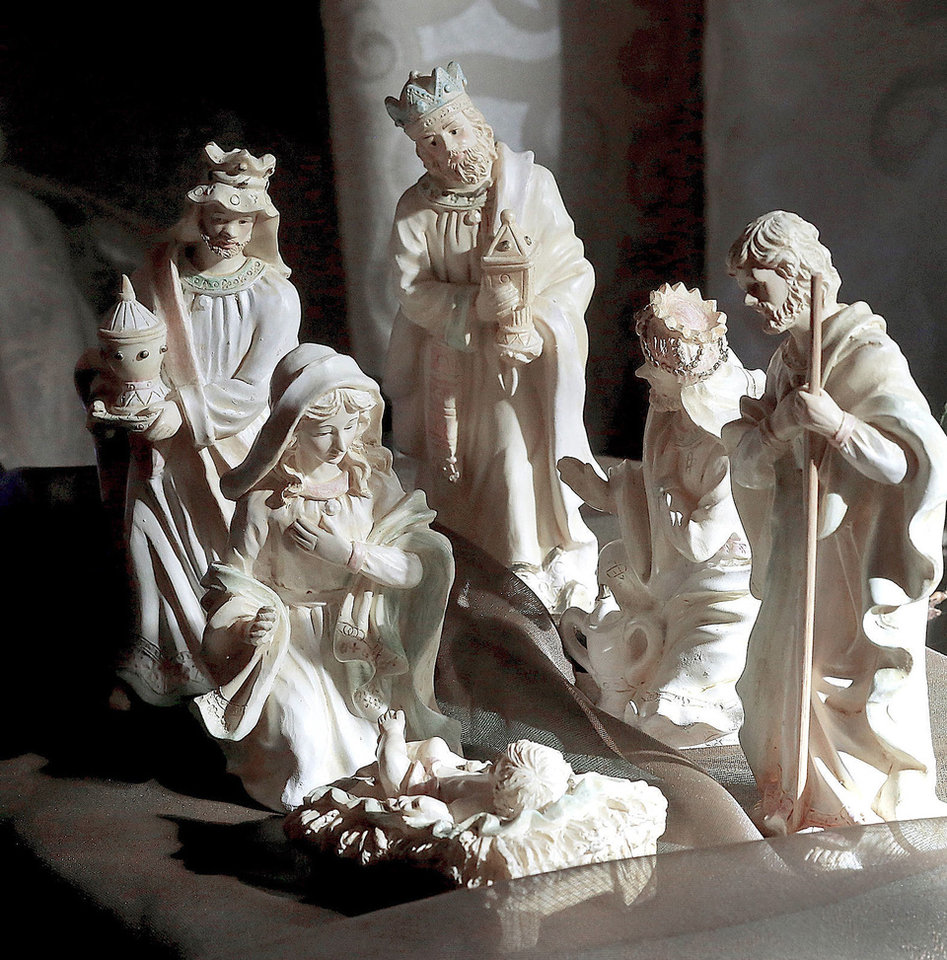 Photo - More than 600 depictions of the Nativity scene, in a wide variety of media and sizes, featuring a number from around the world, are displayed throughout the  Church of Jesus Christ of Latter-day Saints, 5020 NW 63,  through Sunday.  The display is called