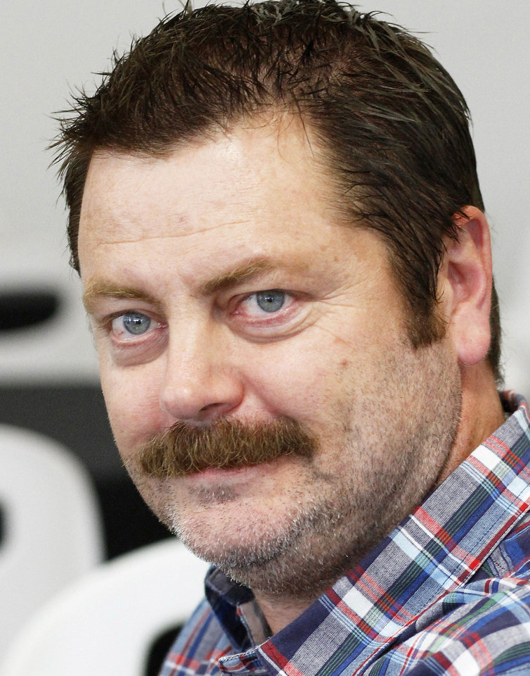 Photo - Nick Offerman appears Wednesday at the deadCenter Film Festival.  Photo by Jim Beckel,  The Oklahoman