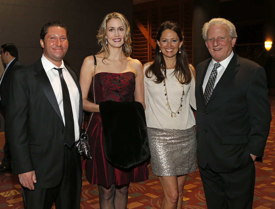 From left, Scott Fischer and Janet Fischer, with Carol Hefner and Robert Hefner IV during the Taste of Oklahoma City benefiting Big Brothers Big Sisters of Oklahoma in Oklahoma City, Saturday, Feb. 9, 2013. Photo by Bryan Terry, The Oklahoman <strong>BRYAN TERRY - THE OKLAHOMAN</strong>