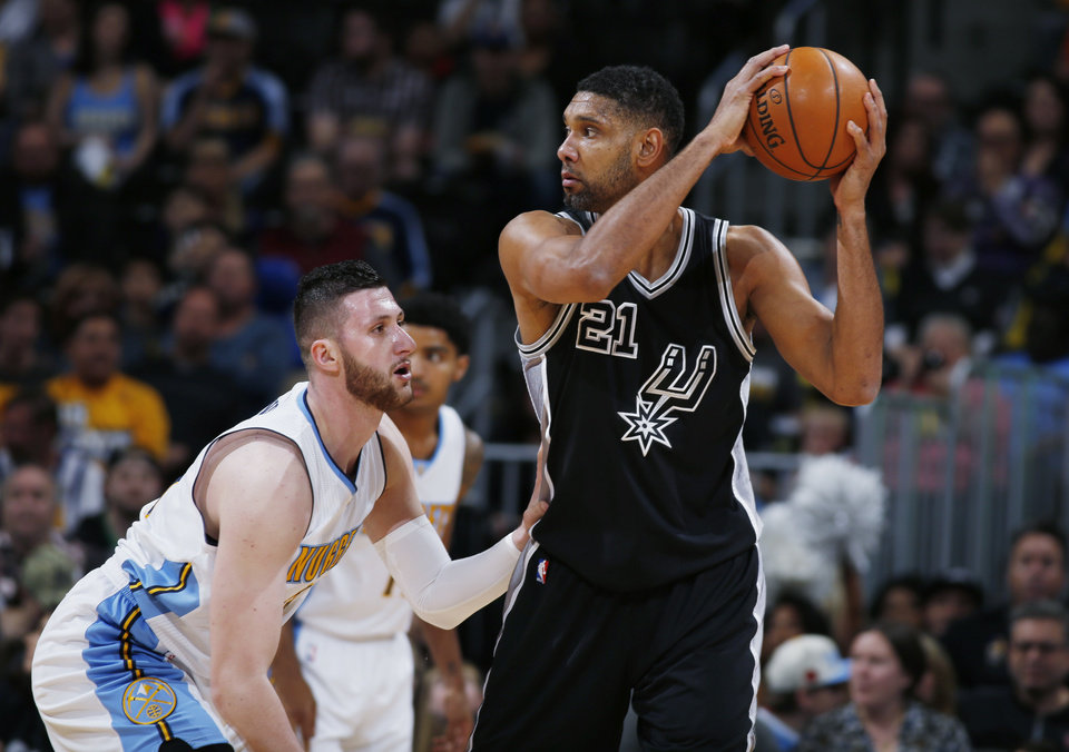 Tim Duncan, depleted Spurs fall to Nuggets 102-98 ...