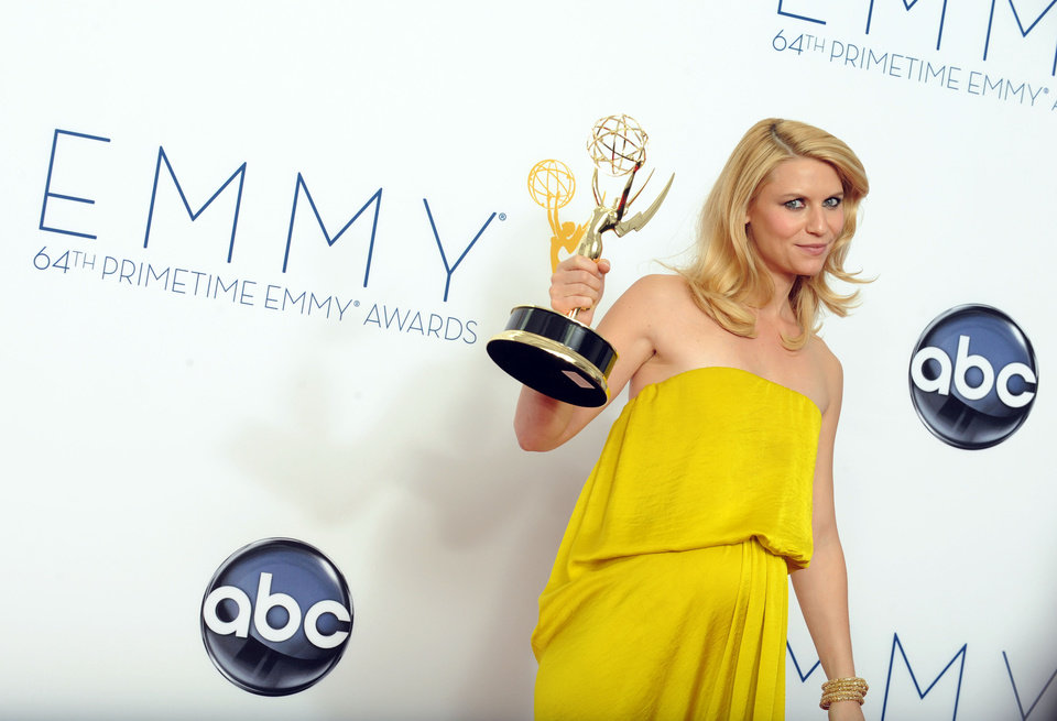 Photo -   Actress Claire Danes, winner of the Outstanding Lead Actress In A Drama Series award for