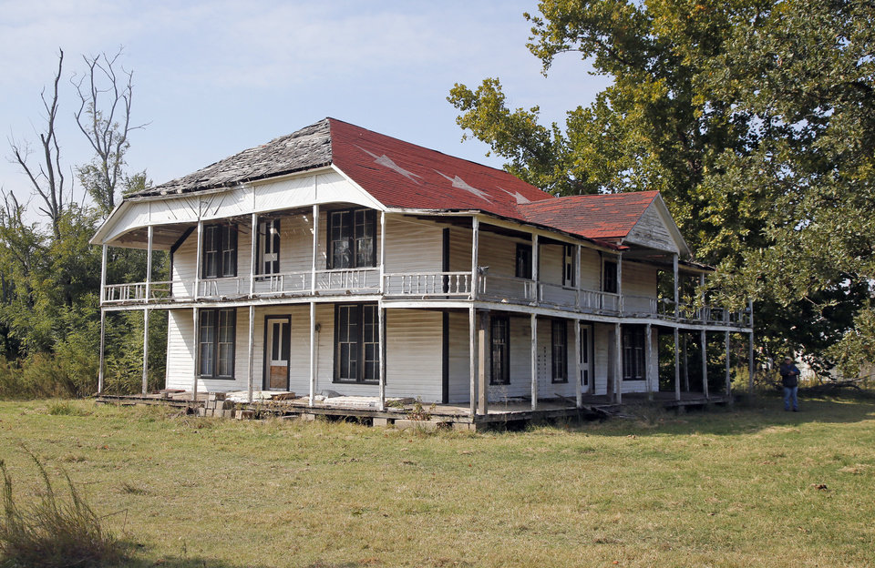 Photo -  The Quanah Parker Star House in Cache. [Photo by Nate Billings, The Oklahoman]