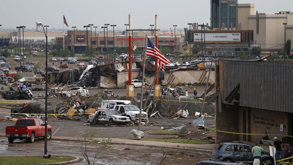 The Warren Theatre in Moore, Okla., after a tornado moved through the area on Monday, May 20, 2013. Photo by Bryan Terry, The Oklahoman