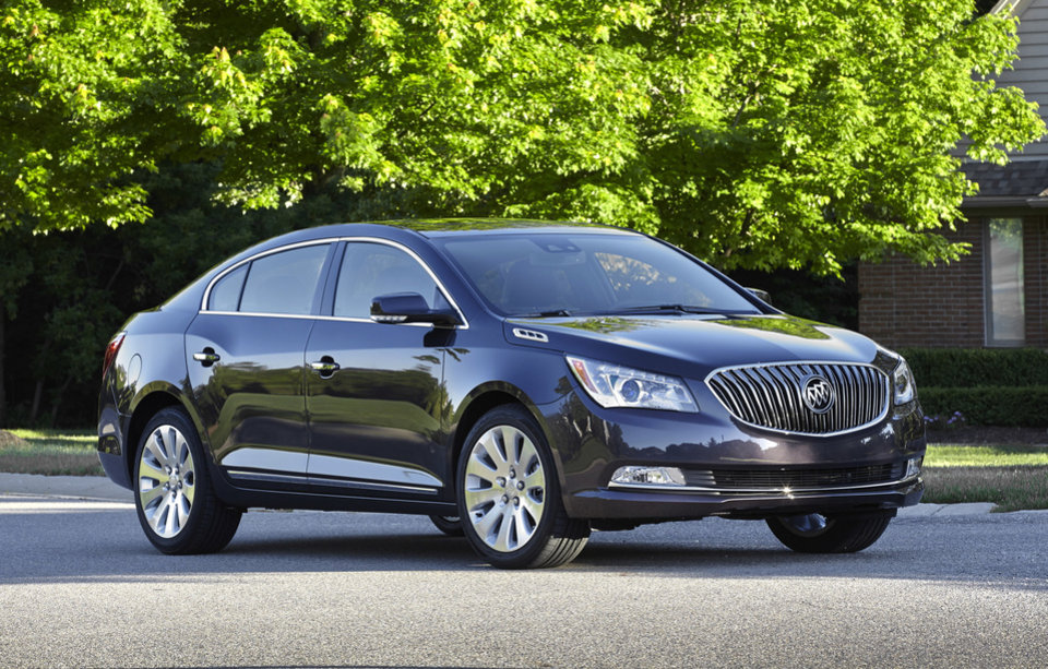 Photo - This undated image made available by General Motors shows the 2014 Buick LaCrosse. (AP Photo/GM)