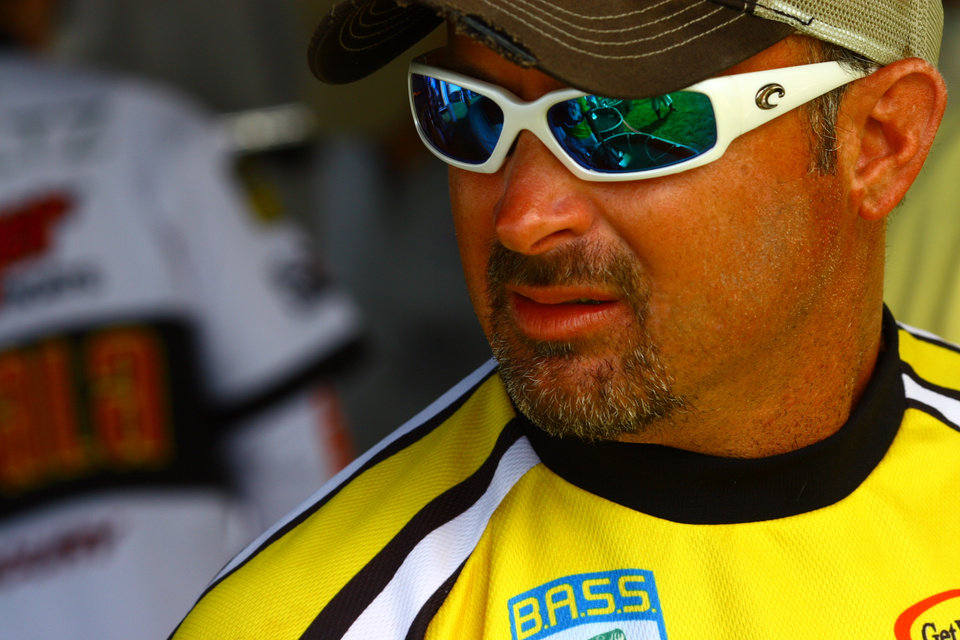 Photo -  FISH / FISHING / BASSMASTER ELITE SERIES TOURNAMENT / BASS ELITE SERIES TOURNAMENT / PRO / PROFESSIONAL FISHING TOURNAMENT: Jeff Kriet of Ardmore leads the Sooner Run at Grand Lake O' the Cherokees after three days of fishing.  PHOTO PROVIDED BY BASS COMMUNICATIONS	ORG XMIT: 0706231935462959