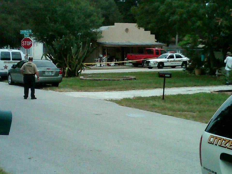 Photo -   Police rope off a crime scene on Friday, June 22, 2012 in Lealman, Fla., Anthony Giancola, 45. Giancola, an ex-Tampa Bay-area middle school principal who lost his job over a drug arrest five years ago went on a rampage Friday, stabbing several people, killing at least two, and then drove his car into a crowded porch before attacking two others at a motel, authorities said. (AP Photo/The Tampa Tribune, Wally Patanow)