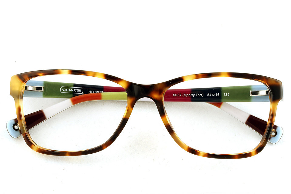 Eyelgasses have gone from nerd necessity to fashion accessory like this pair from Coach. (Kirk McKoy/Los Angeles Times/MCT)