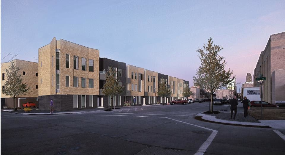Photo - The Civic Center Flats, a 32-unit housing development, is being proposed for the northeast corner of Couch Drive and Lee Avenue north of the Civic Center Music Hall.  Butzer Gardner Architects