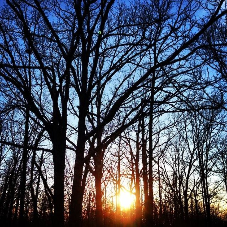Sunset in Twin Oaks, Oklahoma. Photo by Instagrammer @shandacooper