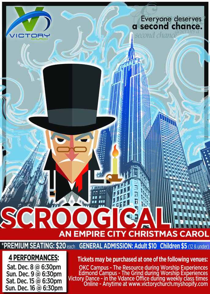 """Scroogical"" is the name of a Christmas musical production at Victory Church, 4300 N MacArthur. Provided  <strong></strong>"