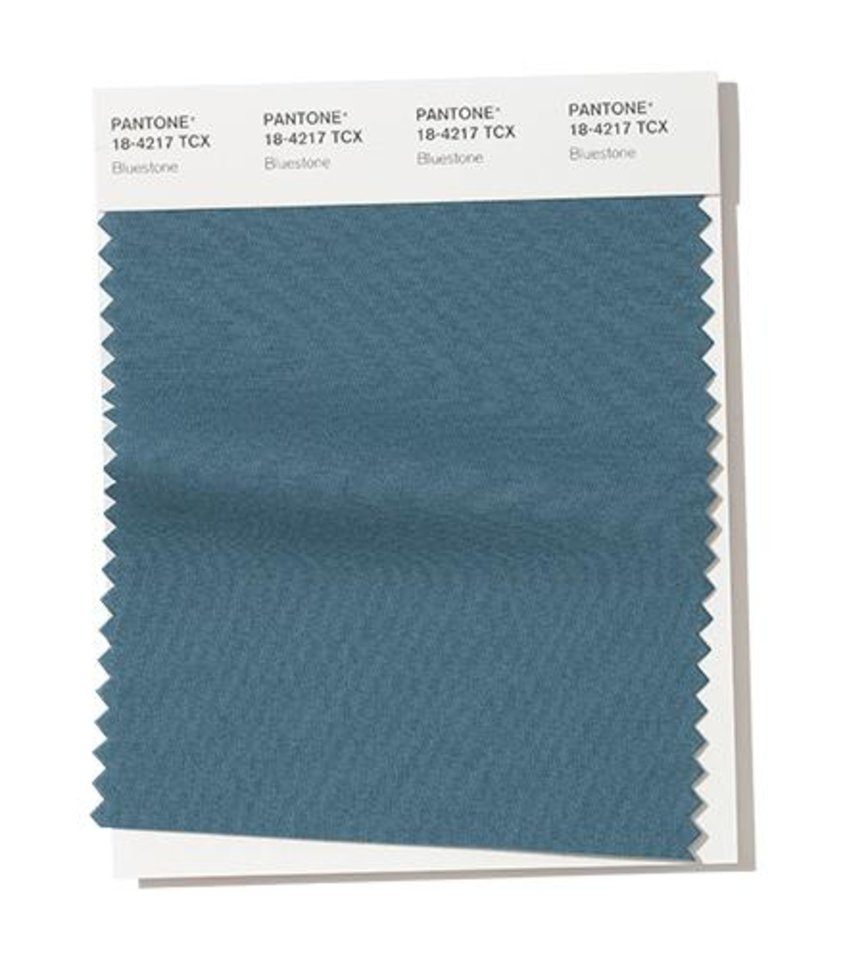 Photo - Pantone Color Institute's Bluestone, a color pick for fall fashion 2019.