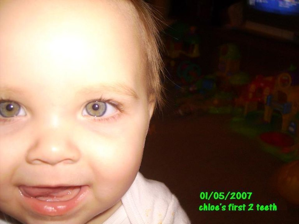 """Chloe Marie """"First Two Teeth """"<br/><b>Community Photo By:</b> gayla<br/><b>Submitted By:</b> gayla, midwest city"""