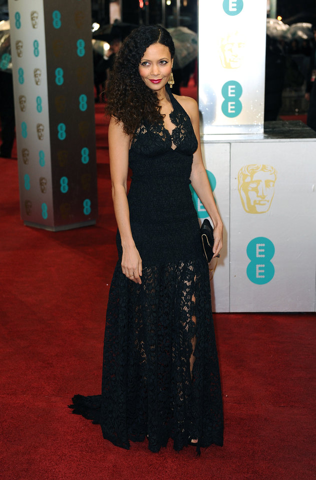 Photo - British actress Thandie Newton arrives for the BAFTA Film Awards at the Royal Opera House on Sunday, Feb. 10, 2013, in London. (Photo by Jonathan Short/Invision/AP)