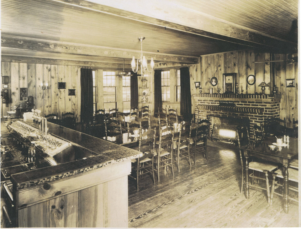 Photo -  A look inside the iconic Dolores Restaurant. [Photo courtesy Oklahoma History Center]